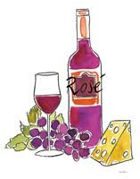 Wine Time III Rose Fine Art Print