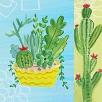 Cacti Garden IV no Birds and Butterflies Fine Art Print