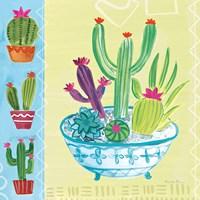 Cacti Garden III no Birds and Butterflies Fine Art Print