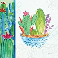 Cacti Garden II no Birds and Butterflies Fine Art Print