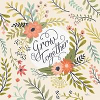 Retro Garden V Fine Art Print