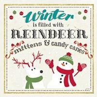 Winter Wonderland I on White Fine Art Print