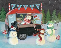 Christmas on Wheels I Light Fine Art Print