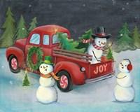 Christmas on Wheels II Light Fine Art Print