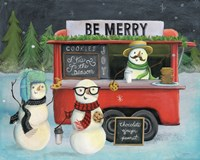 Christmas on Wheels III Light Fine Art Print