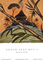 South Seas Hut I Fine Art Print