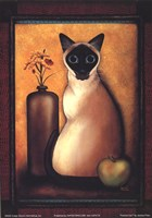Framed Cat I Fine Art Print