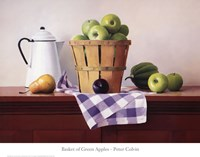 Basket of Green Apples Fine Art Print