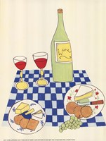 Wine and Cheese Picnic Fine Art Print