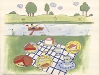 Lakeside Picnic Fine Art Print