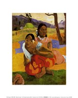 Nafea Faaipoipo (When are You Getting Married), c.1892 Fine Art Print