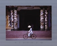Follower of Cao Dai, Tay Ninh Temple Framed Print