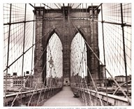 Brooklyn Bridge - sepia  Fine Art Print