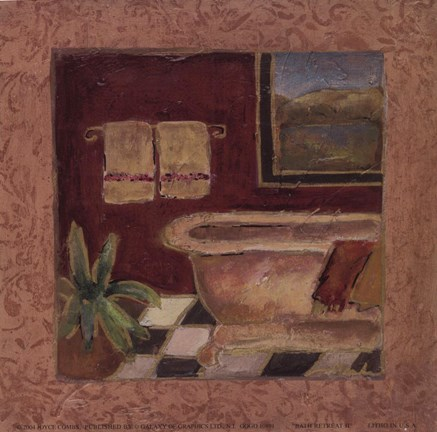 Framed Bath Retreat II Print