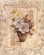 Cottage Roses I Art