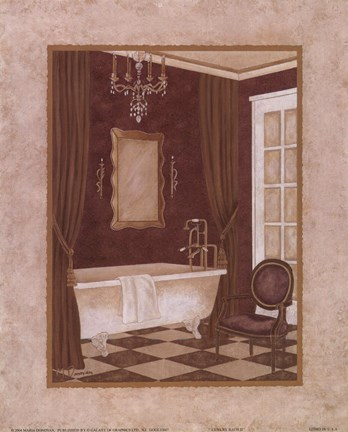 Framed Luxury Bath II Print