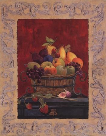 Traditional Fruit Basket I by Charlene Winter Olson art print