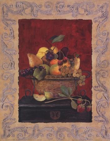 Traditional Fruit Basket II by Charlene Winter Olson art print