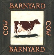 Barnyard Cow Art