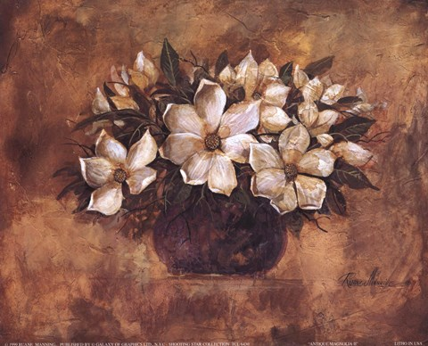Antique Magnolia Ii Fine Art Print By Ruane Manning At