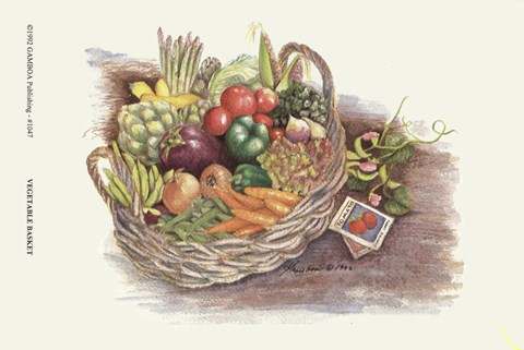Framed Vegetable Basket Print