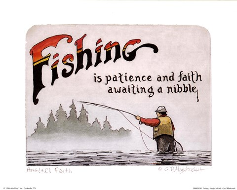 Framed Fishing-Angler's Faith Print