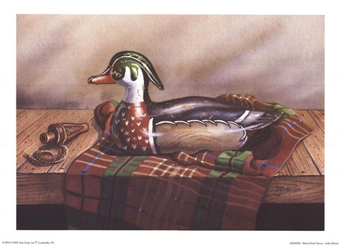 Framed Wood Duck Decoy Print