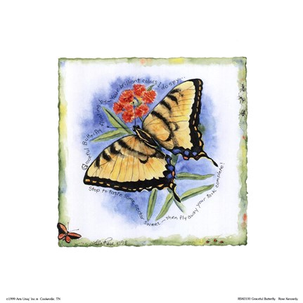 Framed Graceful Butterfly Print
