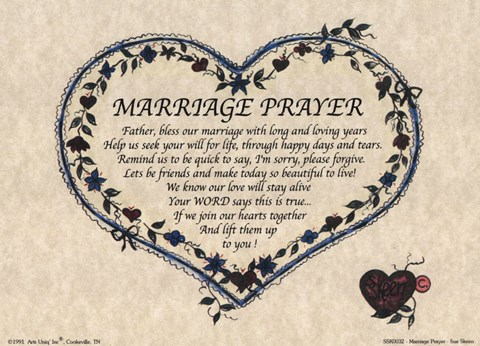 Framed Marriage Prayer Print