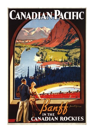 Framed Banff in the Canadian Rockies Print