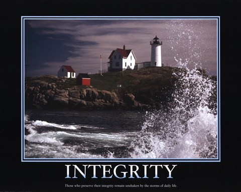 Motivational Integrity Fine Art Print By Unknown At