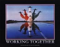 Motivational - Working Together  Fine Art Print