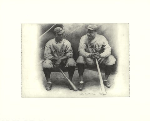 Framed Ruth and Gehrig Print