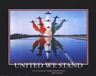 Patriotic-United We Stand  Fine Art Print