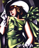 Jeune Fille Vert  Fine Art Print