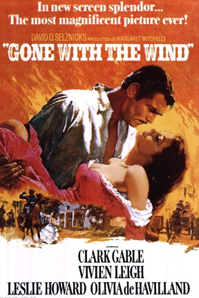 Framed Gone With The Wind - clark gable Print