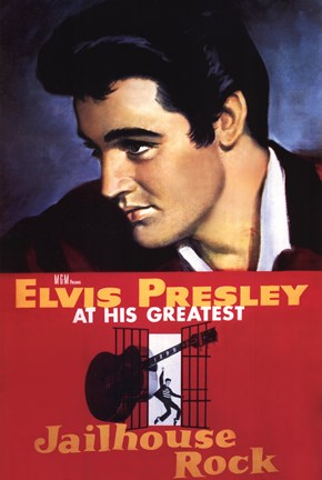 Framed Jailhouse Rock Elvis Presley at his Greatest Print
