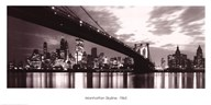 Manhattan Skyline 1965  Fine Art Print