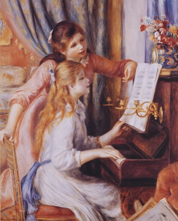 Framed Girls At the Piano Print