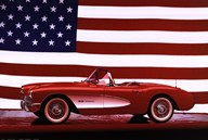 Corvette, 1957 - Us Flag