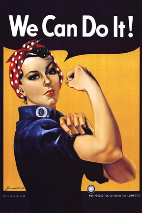 Rosie The Riveter Fine Art Print By J Howard Miller At