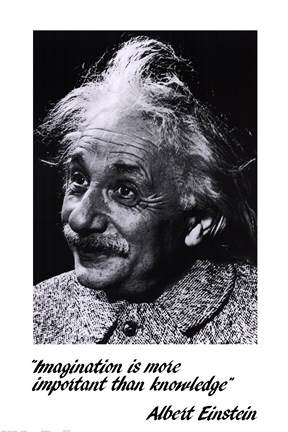 Framed Einstein - Imagination Print