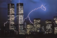 Lightning over World Trade Center Art