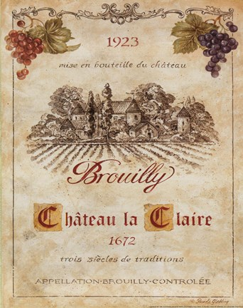 Framed Brouilly Print
