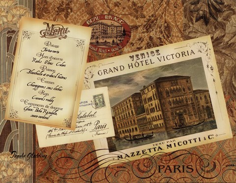 Framed Grand Hotel Paris Print