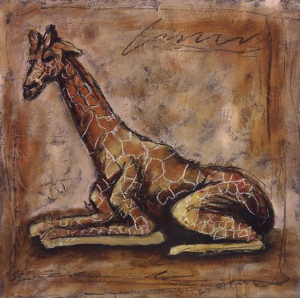 Framed Safari Giraffe Print
