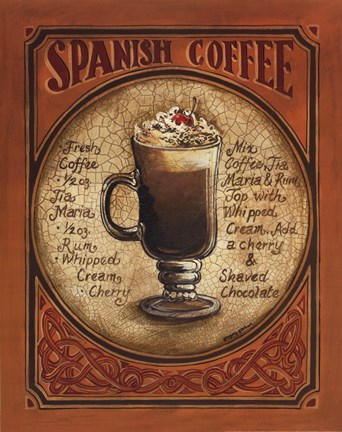 Framed Spanish Coffee Print