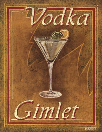 Framed Vodka Gimlet Print