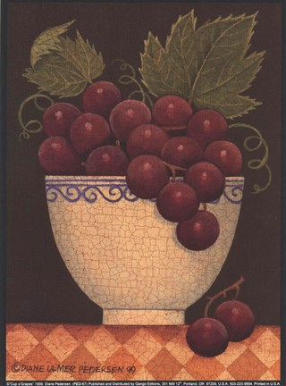 Framed Cup O' Grapes Print