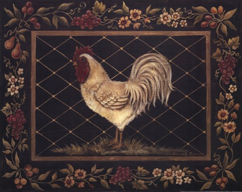Framed Old World Rooster Print